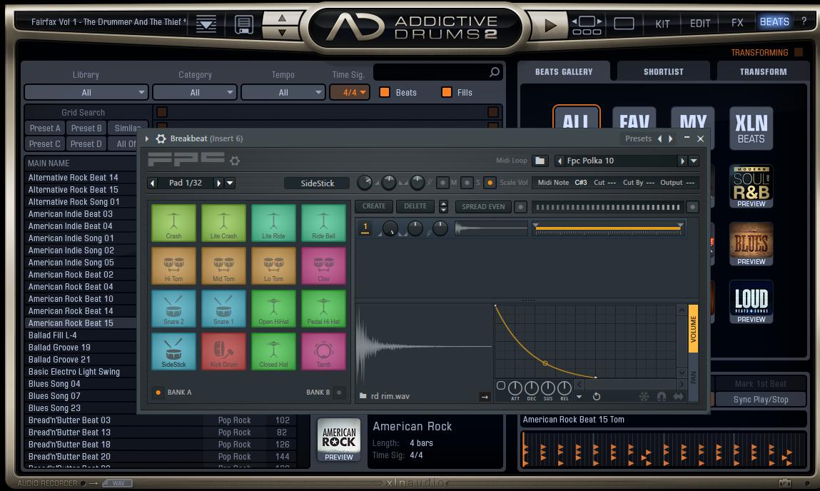 【無料】Addictive Drums 2デモ版のMIDIフレーズを活用する